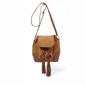 NWT See by Chloé Polly Flap Shoulder Bag in Tan